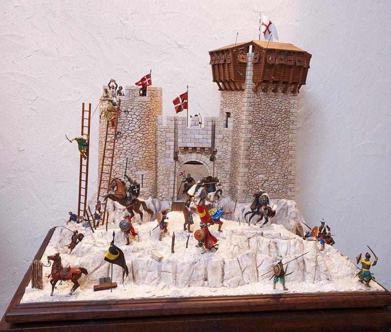 Château des Templiers attaqué par Saladin - Musée de la Figurine à Droiturier dans l'Allier