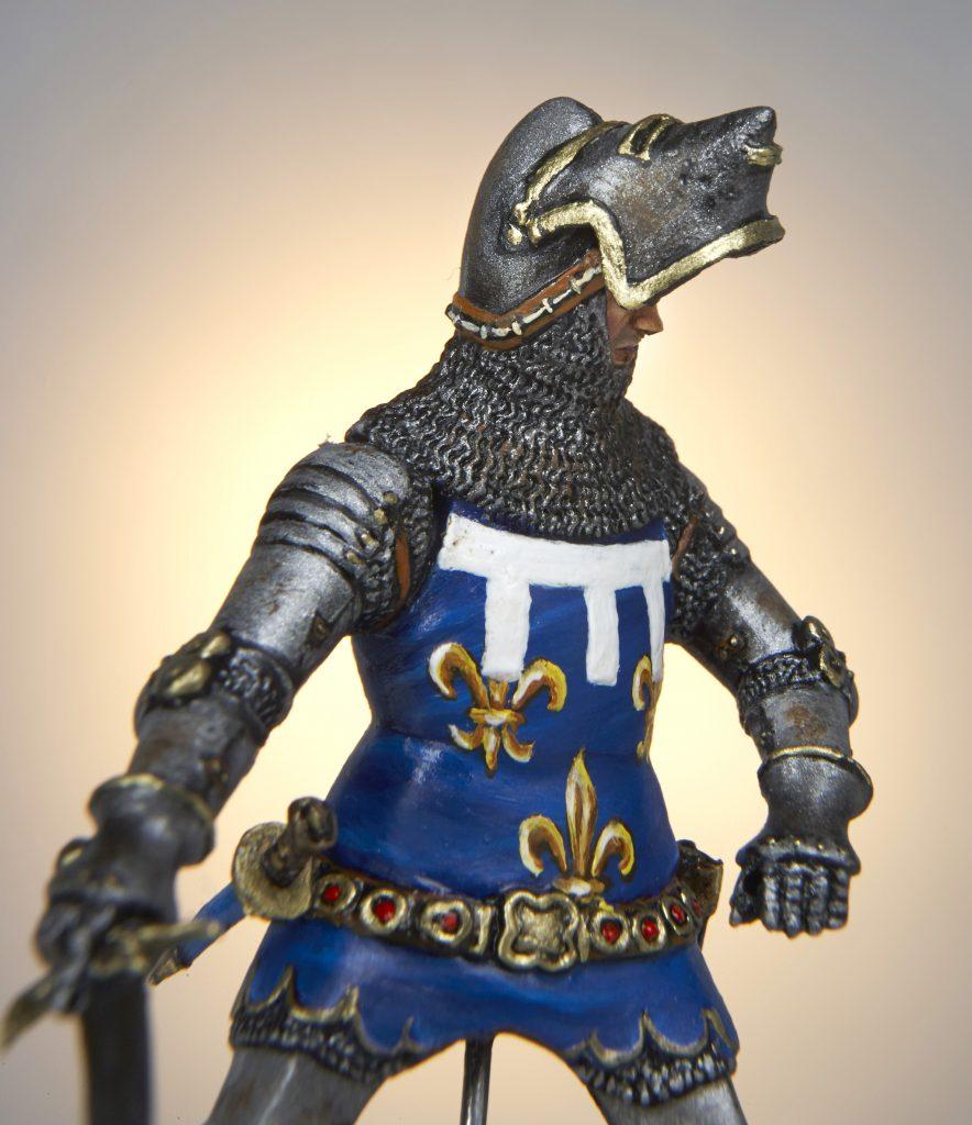 Figurine de Cavalier Moyen-Âge - Historique du Bourbonnais - Le Souffle de l'Histoire - Musée de la Figurine à Droiturier en Allier Auvergne